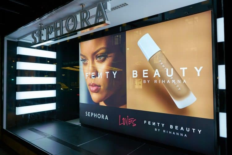 Rihanna on Sephora