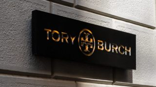 Tory Burch logo store in Milan's Fashion District, Montenapoleone area Milan, Italy - 24.09.2020